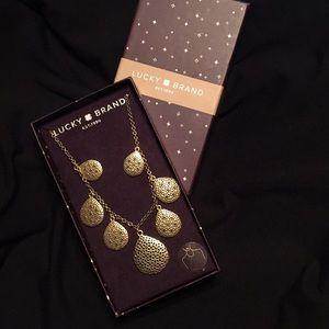 """🍀 LUCKY BRAND 🍀 Gold 18"""" semi-precious $49 new"""